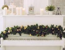Christmas Piano Stock Photos