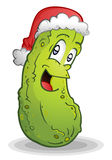 Christmas Pickle. A german tradition, the christmas pickle. First child to find it in the tree gets the prize Stock Photo