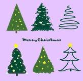 Christmas trees stock illustration