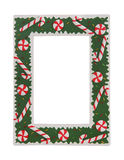 Christmas Picture Frame. A holiday Christmas picture frame isolated over white Royalty Free Stock Photography