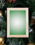 Christmas picture frame Royalty Free Stock Images