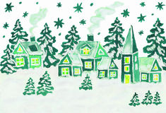Christmas picture in green colours Stock Photography