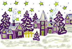 Christmas picture purple Royalty Free Stock Photography