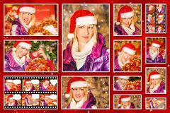 Christmas pictures collage Royalty Free Stock Image