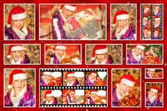 Christmas pictures collage Royalty Free Stock Photography