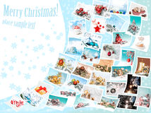 Christmas pictures, collage Royalty Free Stock Images