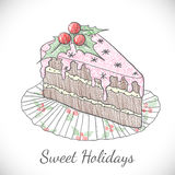 Christmas pie in sketch style. Stock Images