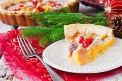 Christmas piece of apple pie Stock Image