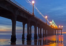 Christmas pier Royalty Free Stock Photo