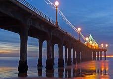Christmas Pier Royalty Free Stock Photo