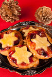 Christmas pies Stock Photo
