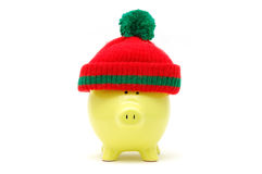 Christmas piggy bank Royalty Free Stock Image