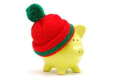 Christmas piggy bank Royalty Free Stock Photos