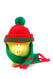 Christmas piggy bank Stock Images