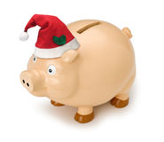 Christmas Piggy Bank Royalty Free Stock Images