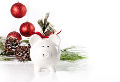 Christmas Piggy Bank 2 Stock Image