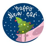 Christmas piglet vector symbol year old new year. Picture for postcard Royalty Free Stock Photos