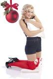 Christmas pillow pin up Royalty Free Stock Photos