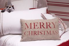 Christmas pillows stock photography