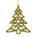 Christmas pine & Accessories, hanging over white  background Stock Photography