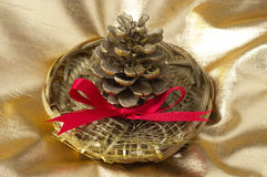 Christmas pine cone Royalty Free Stock Image