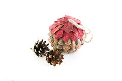 Christmas pine cone Royalty Free Stock Photo