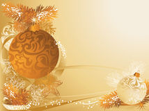 Christmas pine cones card Royalty Free Stock Images
