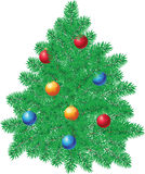 Christmas pine decoration Stock Photo