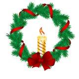Christmas pine garland Stock Image