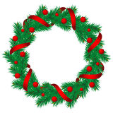 Christmas pine garland Royalty Free Stock Images