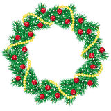 Christmas pine garland Royalty Free Stock Photo