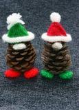 Christmas pine gnome, Xmas pinecone Royalty Free Stock Images