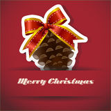 Christmas Pine nuts Christmas card Royalty Free Stock Images