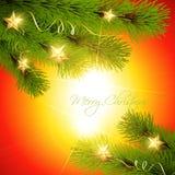 Christmas pine tree. Stylish christmas pine tree vector background Royalty Free Stock Image