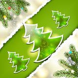 Christmas pine tree Royalty Free Stock Images