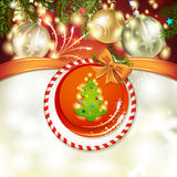 Christmas pine tree Stock Image