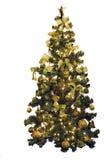 Christmas Pine Tree. Decorated christmas pine tree on white Royalty Free Stock Image