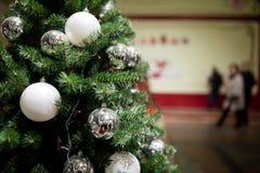 Christmas pine tree with balls Royalty Free Stock Photos