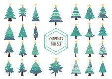 Christmas pine tree set icon holiday decoration Royalty Free Stock Photography