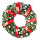 Christmas pine wreath Royalty Free Stock Image