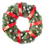 Christmas pine wreath Royalty Free Stock Image
