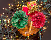 Christmas pinecones Royalty Free Stock Photo