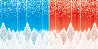 Christmas pines backgrounds Stock Photos
