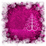 Christmas pink background Royalty Free Stock Photos