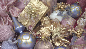 Christmas pink background. Christmas pink and blue background Royalty Free Stock Images