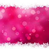 Christmas pink background with snow flakes. EPS 10 Stock Photography