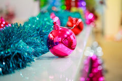 Christmas pink ball Royalty Free Stock Image