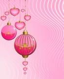Christmas pink balls Stock Image