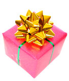 Christmas pink gift box Royalty Free Stock Images