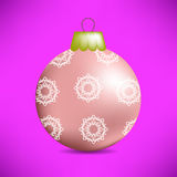Christmas Pink Glass Ball Royalty Free Stock Images